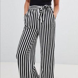 ASOS striped paper bag pants